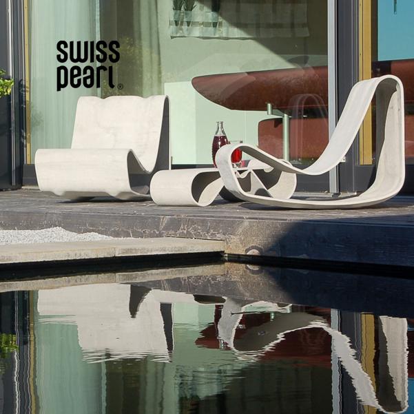 SWISSPEARL – betónový nábytok a doplnky do exteriéru a interiéru