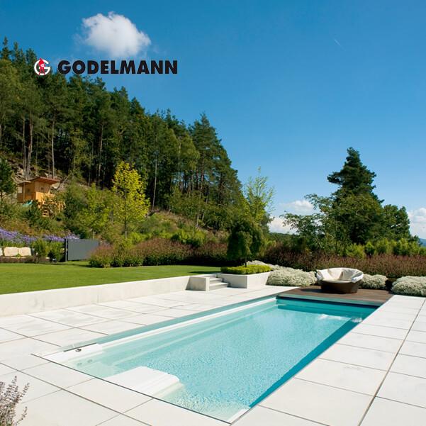 GODELMANN – nemecké betónové exteriérové dlažby, schody, múry a iné produkty z betónu